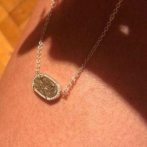 Kendra Scott Elisa gold drusy oval necklace